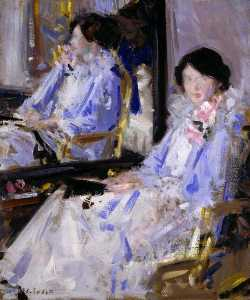 Francis Campbell Boileau Cadell - Lady in Blue