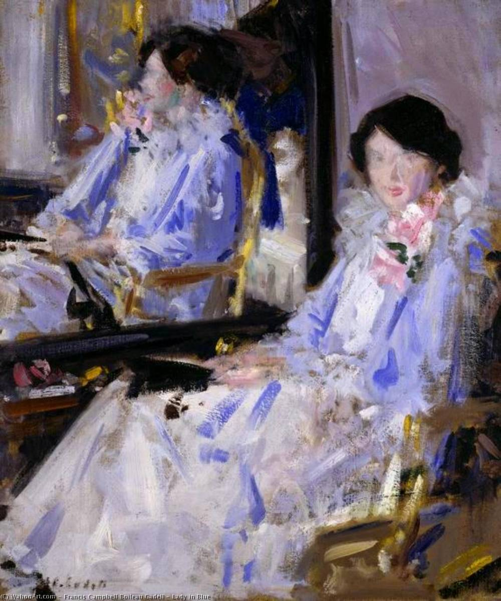 Lady in Blue, 1918 by Francis Campbell Boileau Cadell (1883-1937)