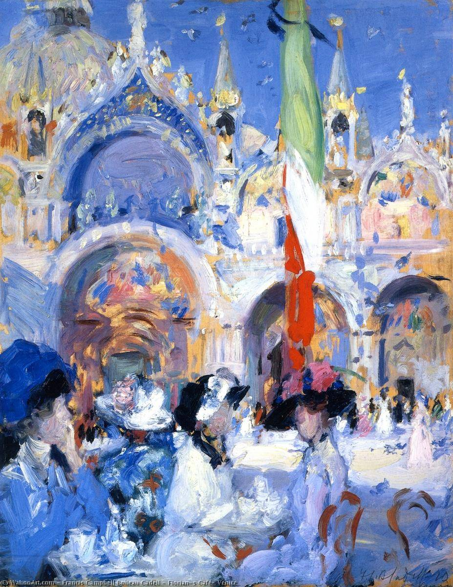 Florian's Café, Venice, Oil On Canvas by Francis Campbell Boileau Cadell (1883-1937)