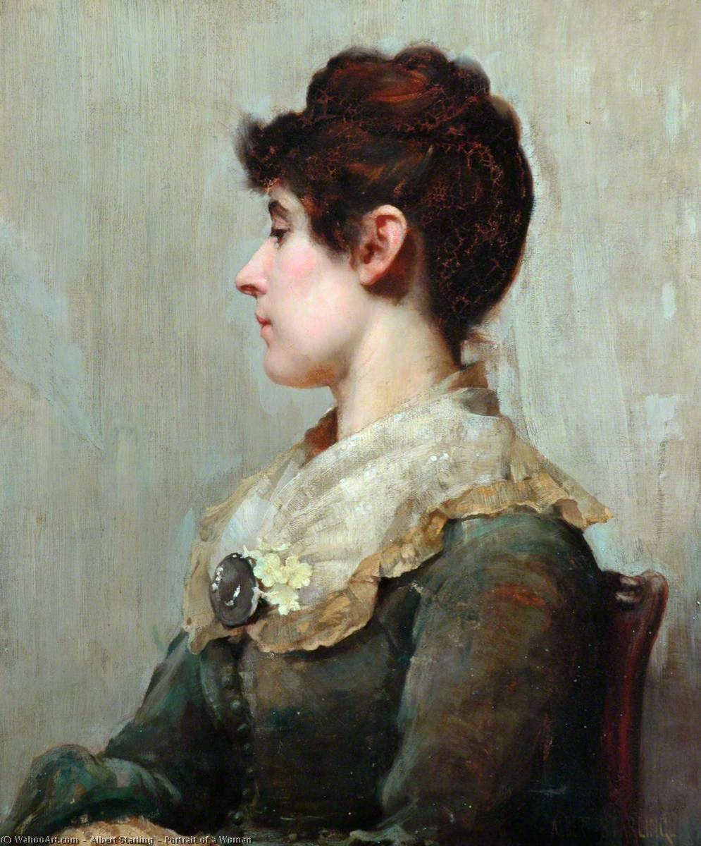 Portrait of a Woman by Albert Starling | Museum Quality Reproductions | WahooArt.com