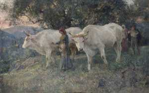 Arthur Lemon - Leading Cattle