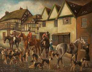 Herbert St John Jones - Sporting Cheshire, The Old Lamb Hotel