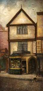 Herbert St John Jones - E. Rhodes' Toy Shop, High Street, Nantwich, Cheshire, 1885