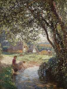 George Clausen - The Little Pool