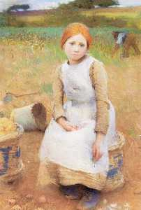 George Clausen - Little Rose