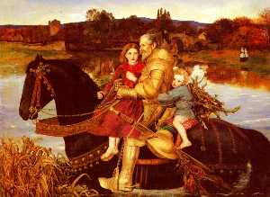 John Everett Millais - A Dream of the Past Sir Isumbras at the Ford