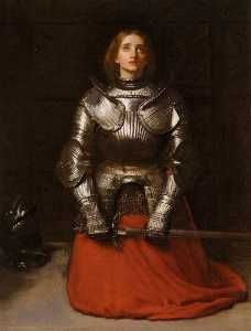 John Everett Millais - English Joan of Arc Español Juana of Arco