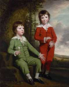 Thomas Beach - Portrait of the Children of Charles Blair
