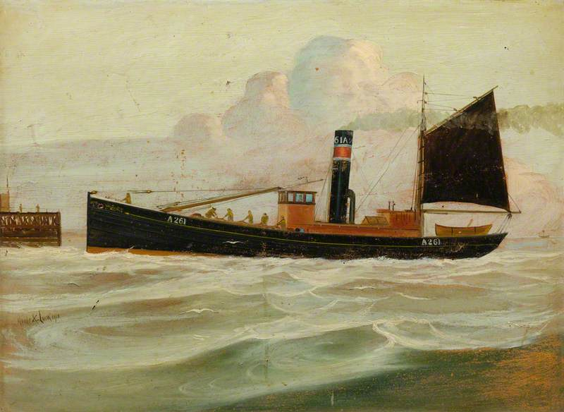 Steam Drifter `Willowbank`, 1911 by Kenneth Luck | Museum Quality Reproductions | WahooArt.com