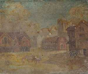 Francis Colmer - High Wycombe Guildhall and Corn Market, Buckinghamshire