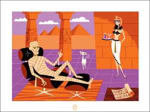 Josh Agle (Shag) - The mummy
