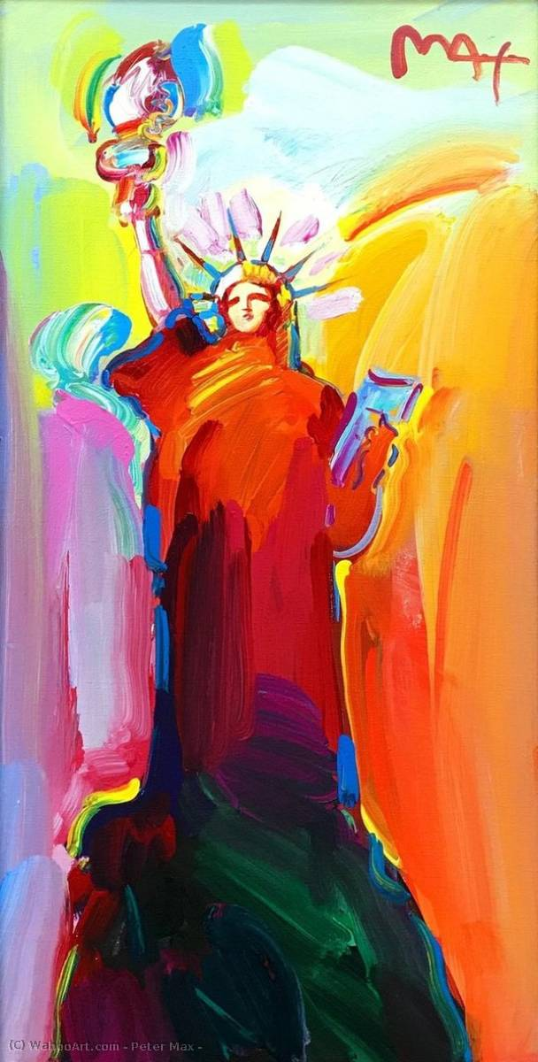 Statue of Liberty by Peter Max (1937-2004, Germany) |  | WahooArt.com