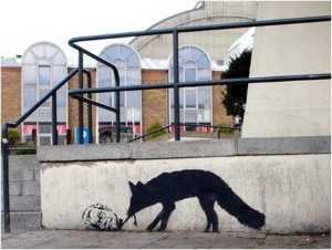 Banksy - Kentucky fox