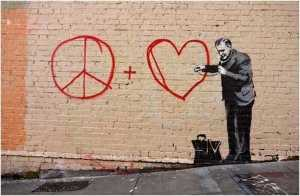 Banksy - Peaceful hearts doctor